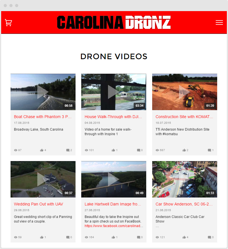 Shopify Drone YouTube Gallery
