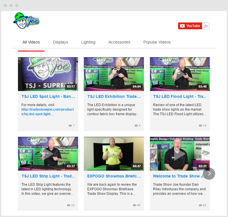 Shopify Show YouTube Gallery