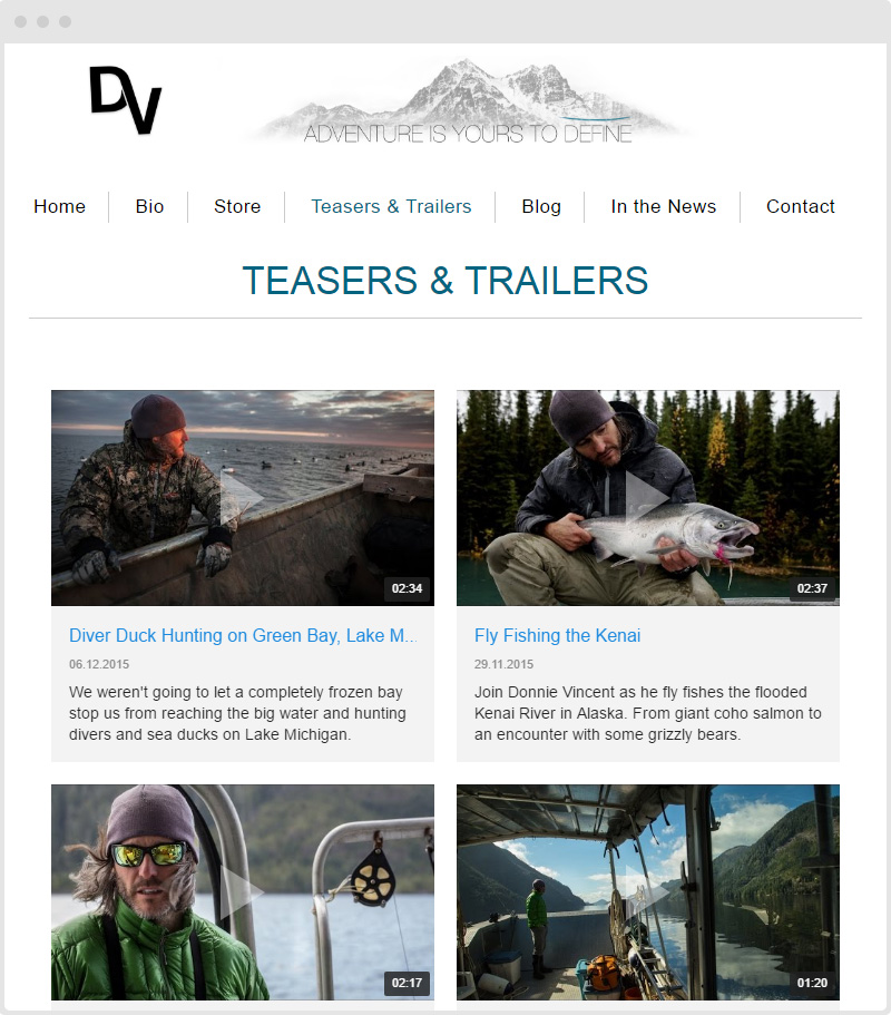 Shopify Trailers YouTube Gallery