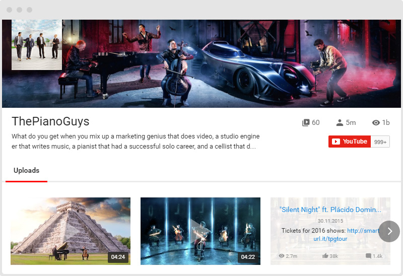 YouTube Plugin Cinema Layout