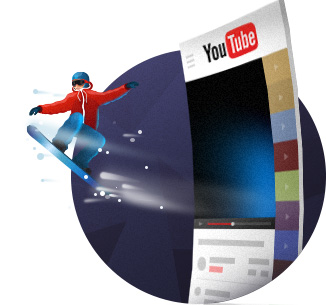 YouTube Plugin Yottie Snowboarder