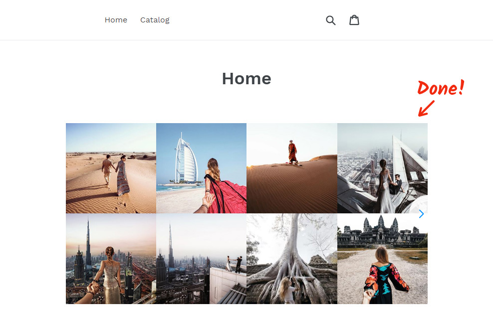 Integrate Instagram App to Shopify Site