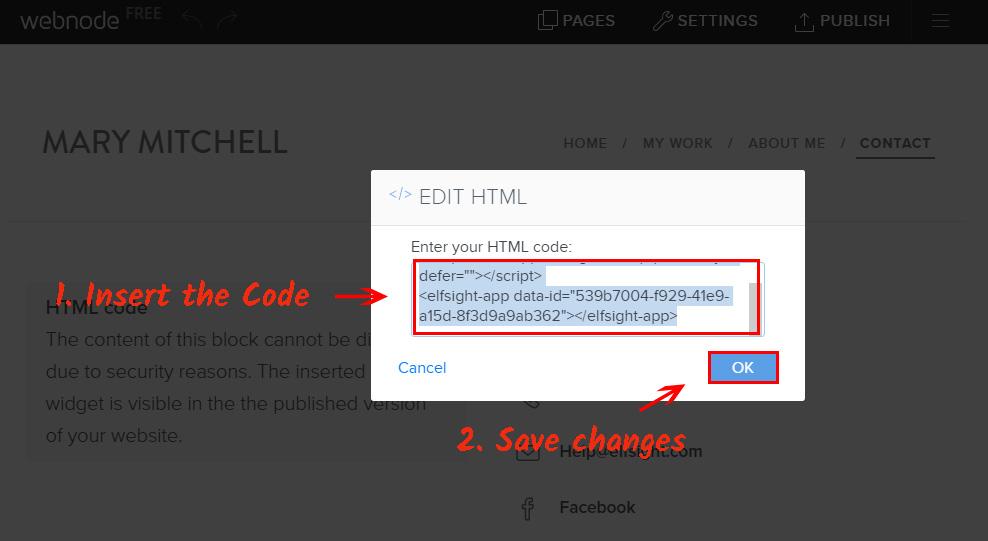 Paste the plugin's code