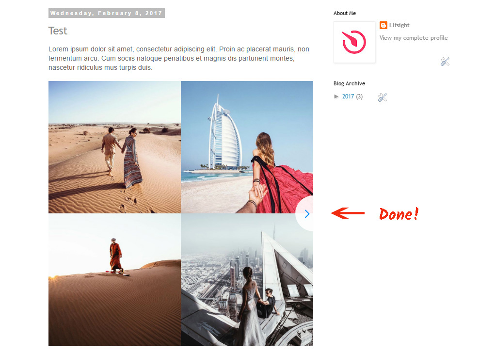 Add Instagram Widget to Blogger