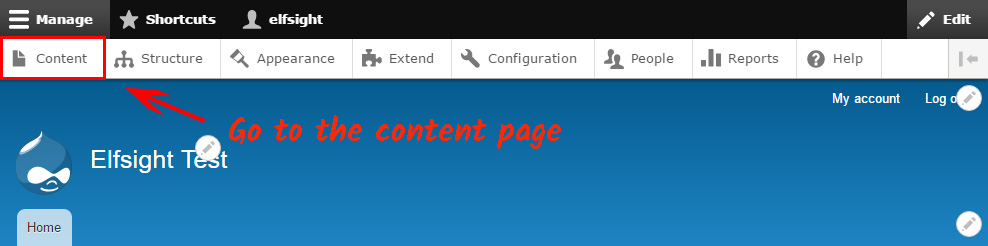 Go to Drupal pages' catalog