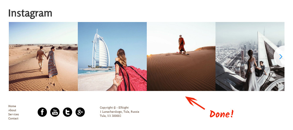 Add Instagram Feed Plugin to Web.com Website
