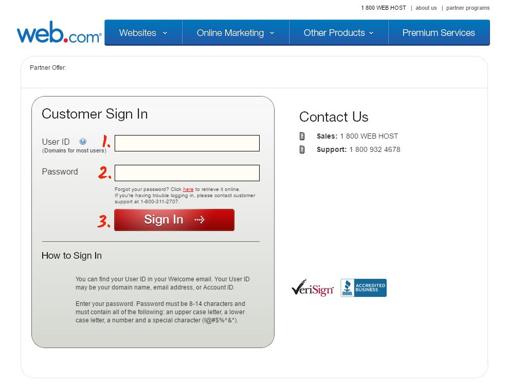 Authorise at Web.Com