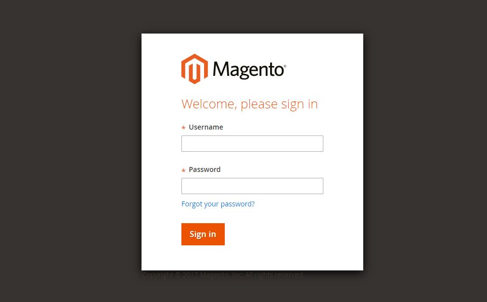 login in Magento admin panel