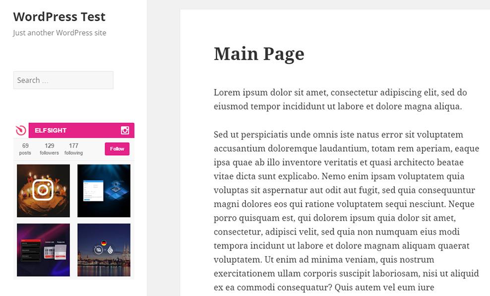 Instagram Widget InstaLink WordPress