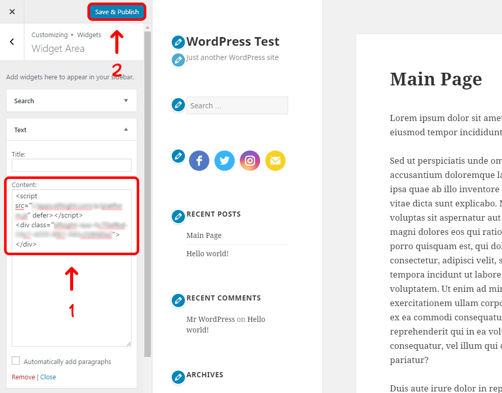 Save and Publish Theme