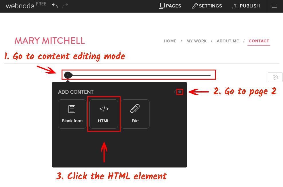 Add HTML block