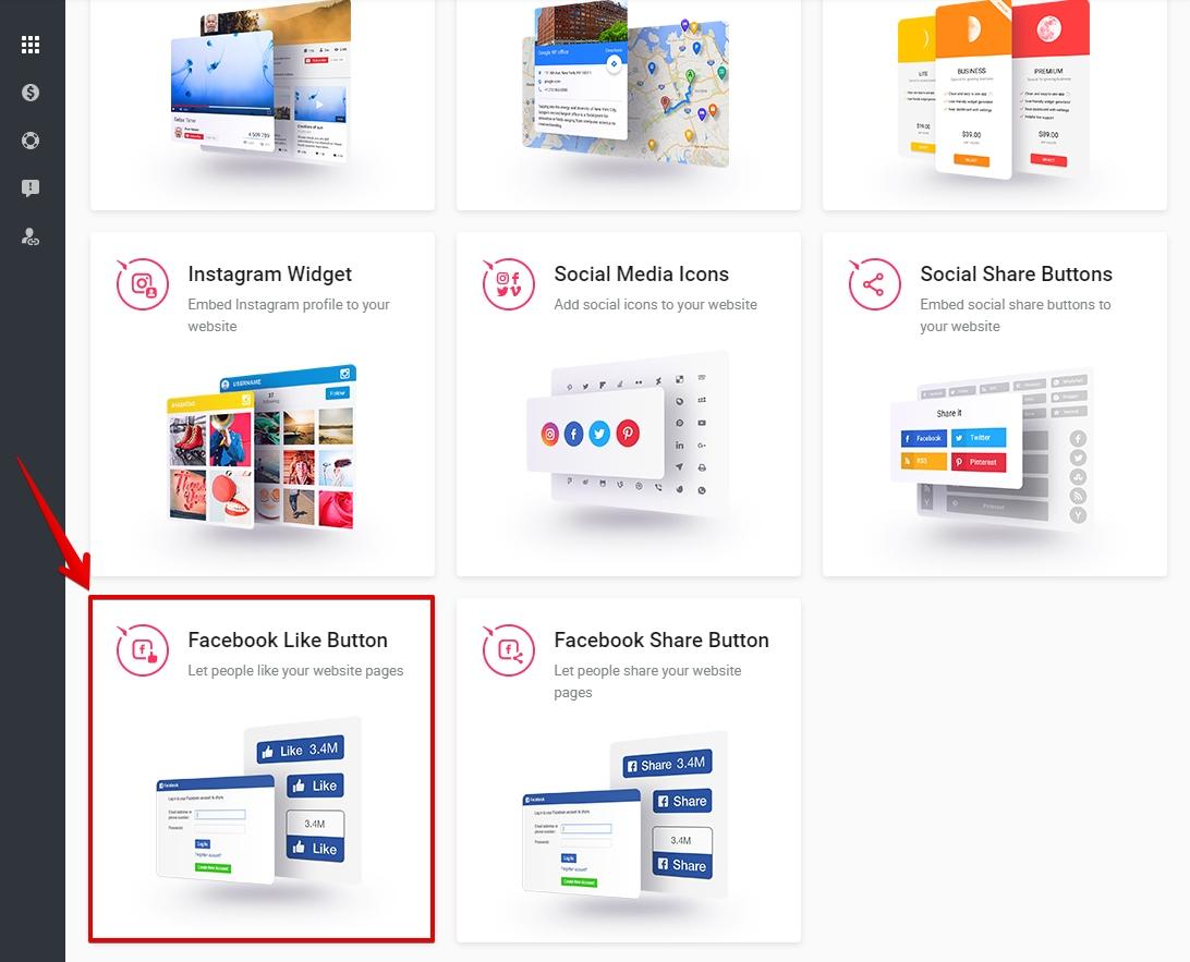 Select Facebook Like Button module