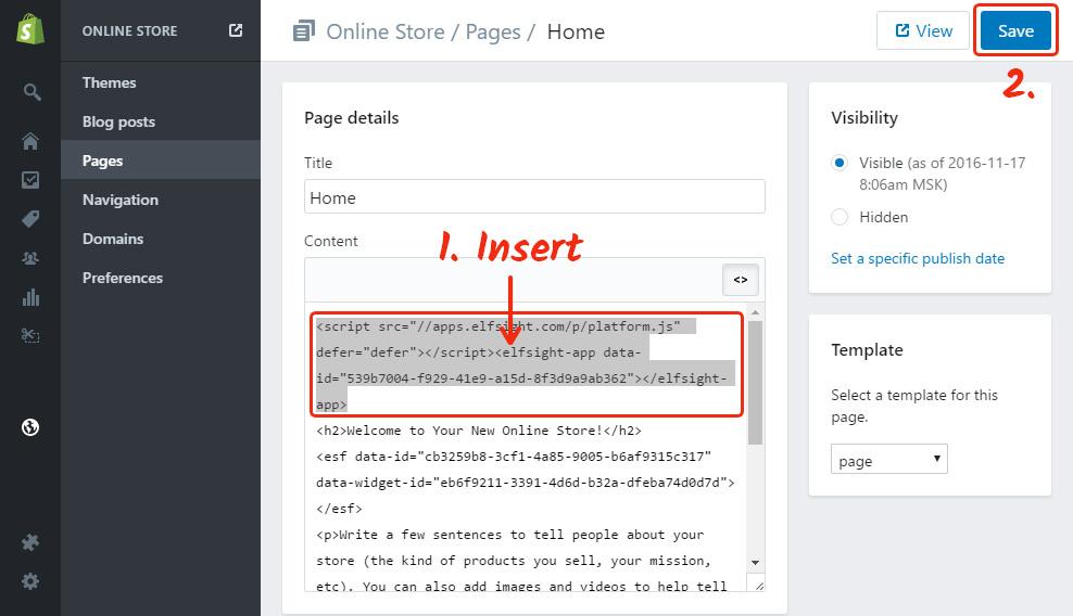 paste the testimonials widget code