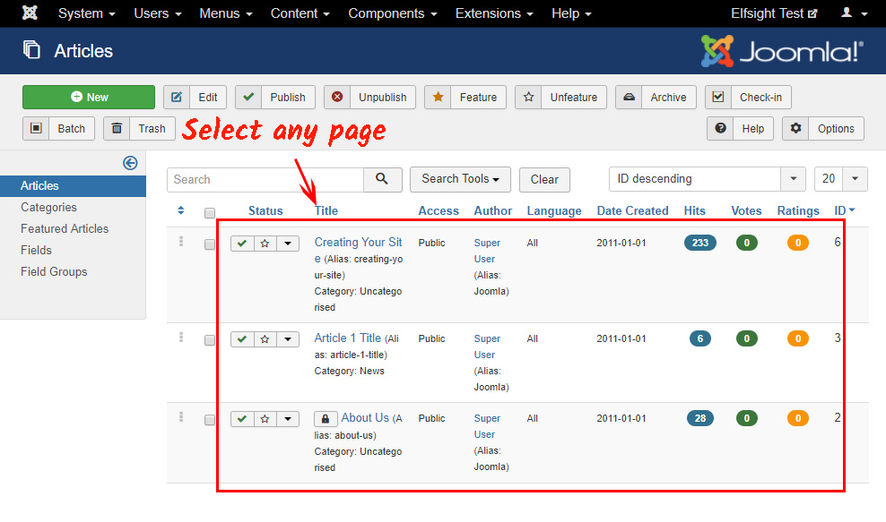 Select a page