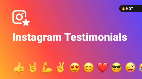 The first and only website plugin specially designed for Instagram Testimonials