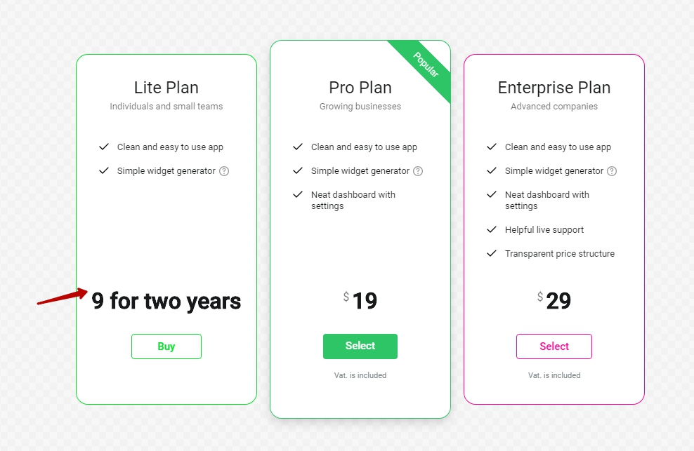 how do i remove recurrent billing options from my pricing table