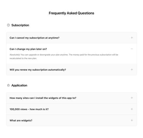 Présentation de la FAQ Accordéon