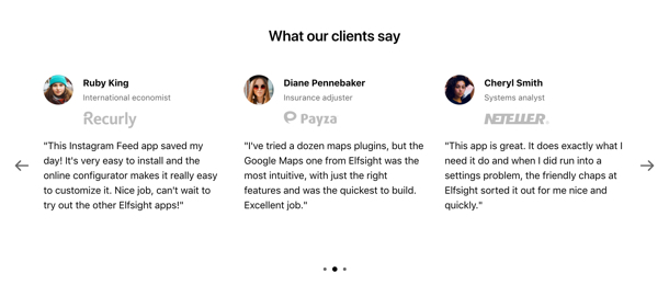 wix insurance adjuster template  Elfsight Testimonials Slider — Features (20  settings)