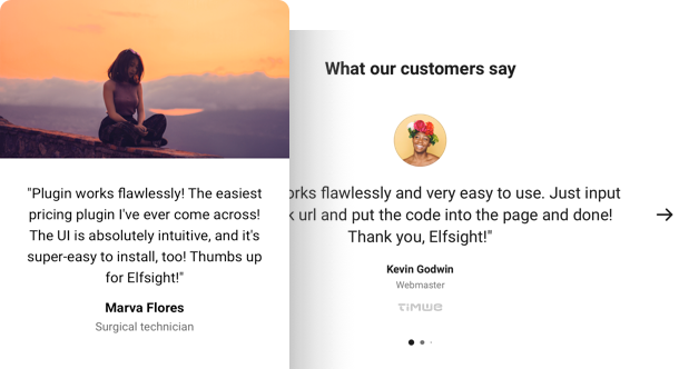 Testimonials Slider widget for website