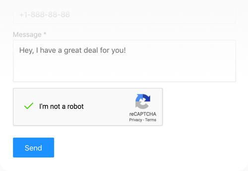 Contact form with Google reCaptcha