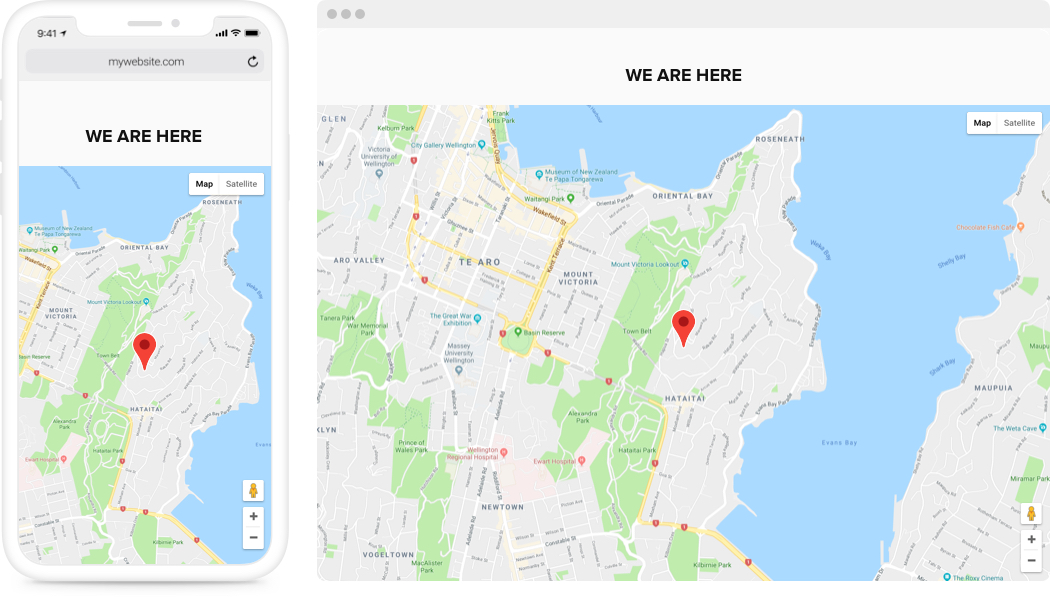 Responsive Google Maps widget