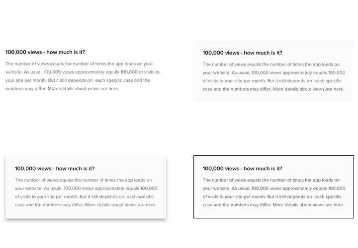 The FAQ block styling options