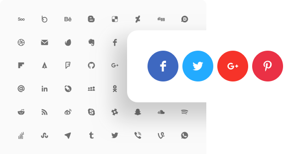 Social Media Icons widget for website