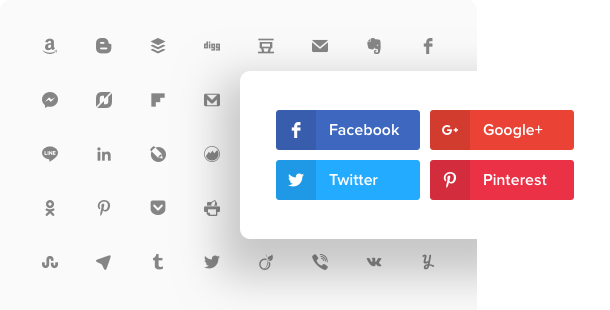 Social Share Buttons widget for website