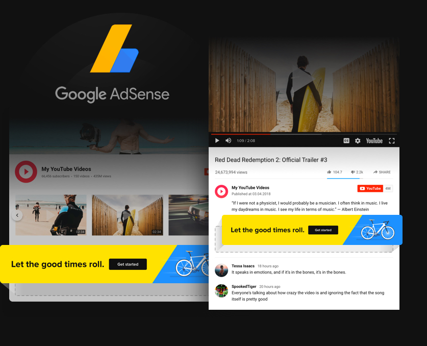 Turn views into profit with AdSense