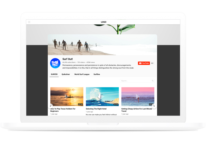 YouTube Widget - Embed YouTube Video Gallery to SquareSpace