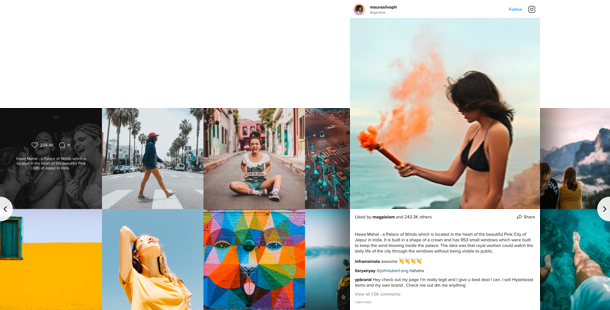 Instagram photos and videos in real-time