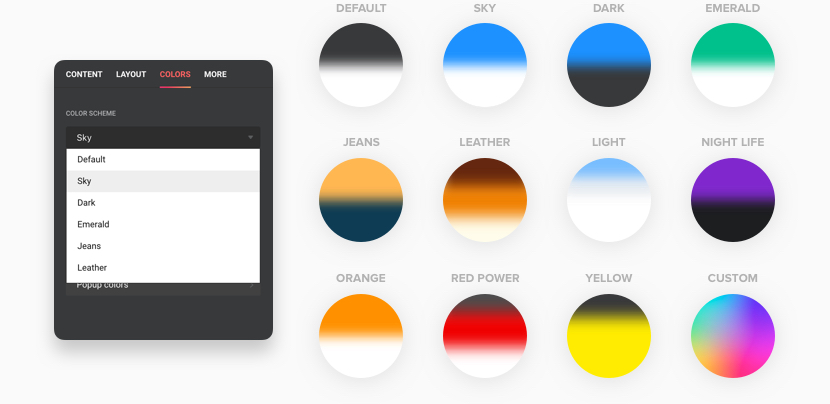 12 color schemes
