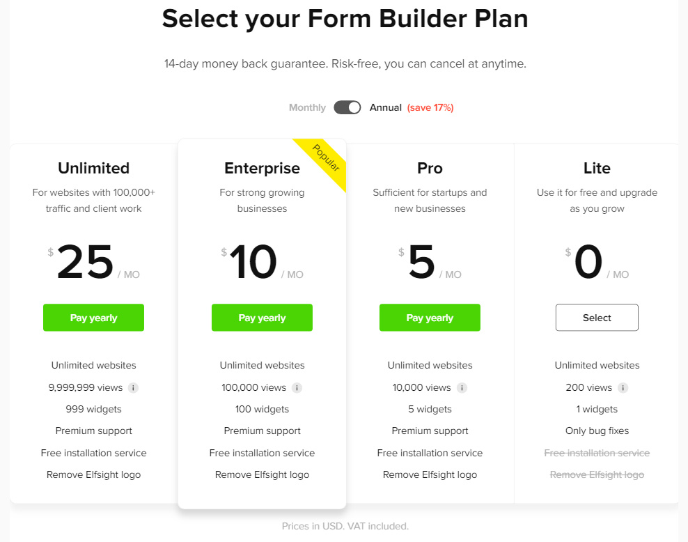 Form Builder Widget To Html Website