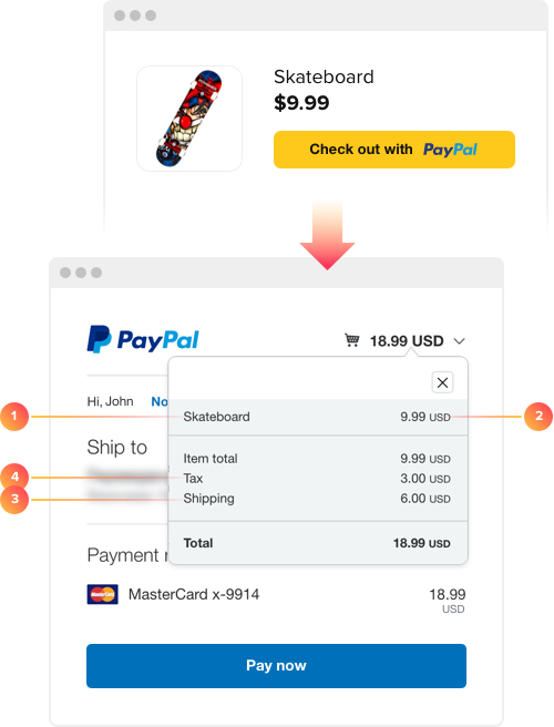 Elfsight PayPal Payment Button widget — Features (25+ custom