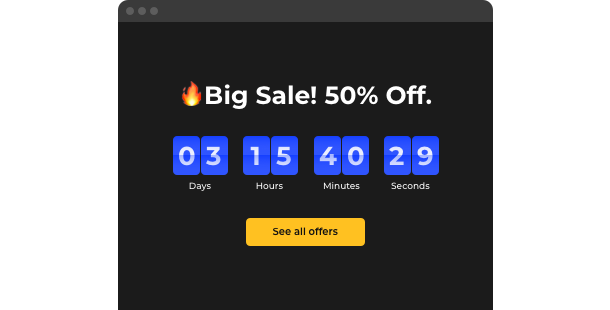Countdown Timer widget for website