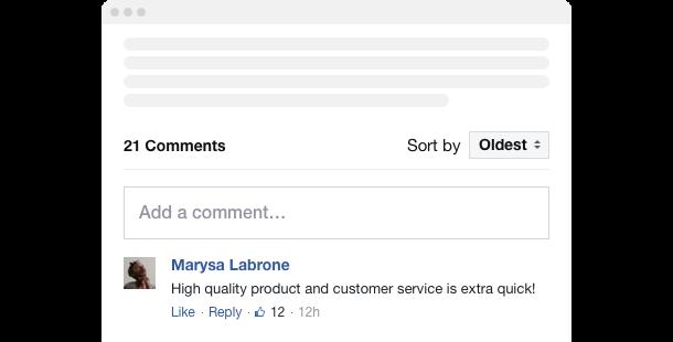 Facebook Comments <br>widget for website