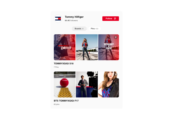 Pinterest tab for Facebook business page