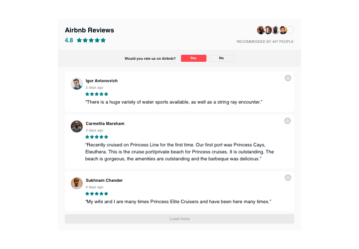 HTML Airbnb Reviews