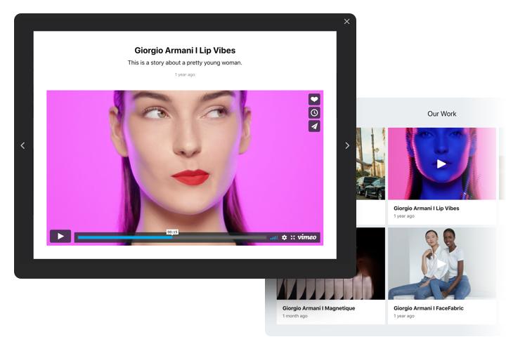 The best Portfolio widget on Adobe Muse website (free and fast)