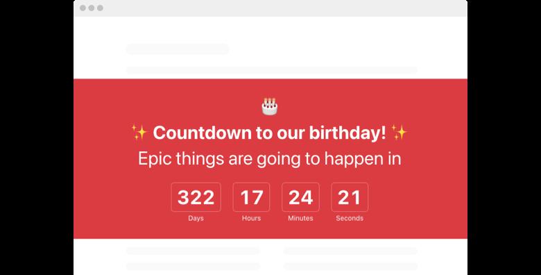 Birthday Countdown Timer widget