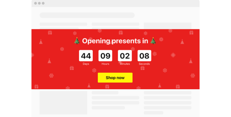 Christmas Countdown Timer widget