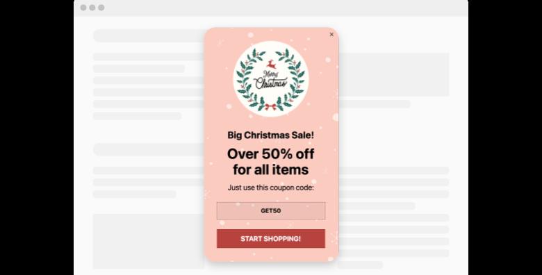 Christmas Sale Popup