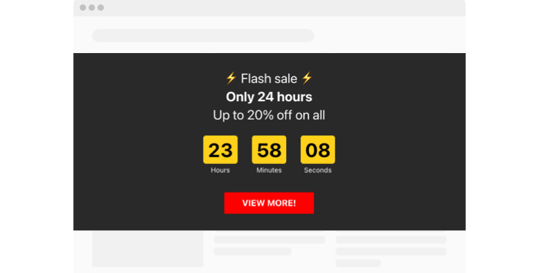 Fomo Countdown Timer widget template