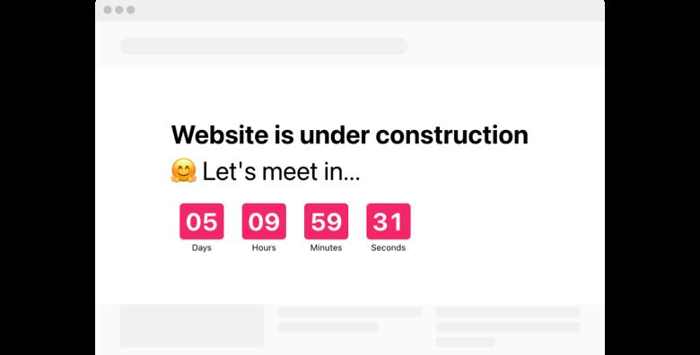 Launch Countdown Timer widget template