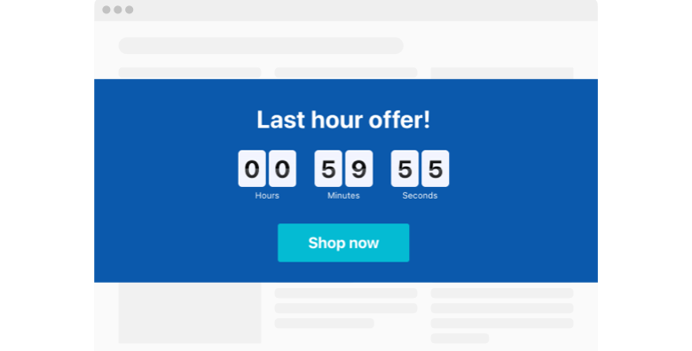 1 hour Countdown Timer widget template