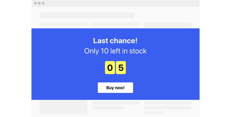 Scarcity Countdown Timer widget