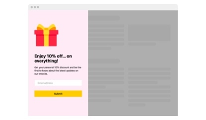 Personal Discount message popup template