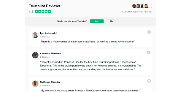 Trustpilot Reviews <br>widget for website