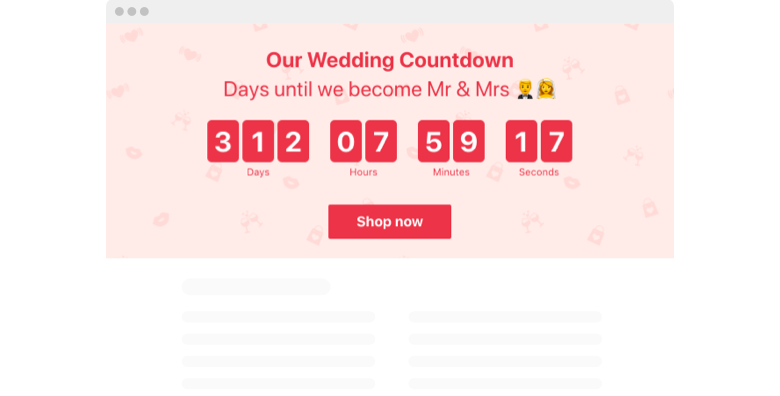 Wedding Countdown Timer widget template