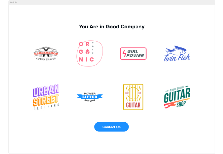 HTML Logo Showcase